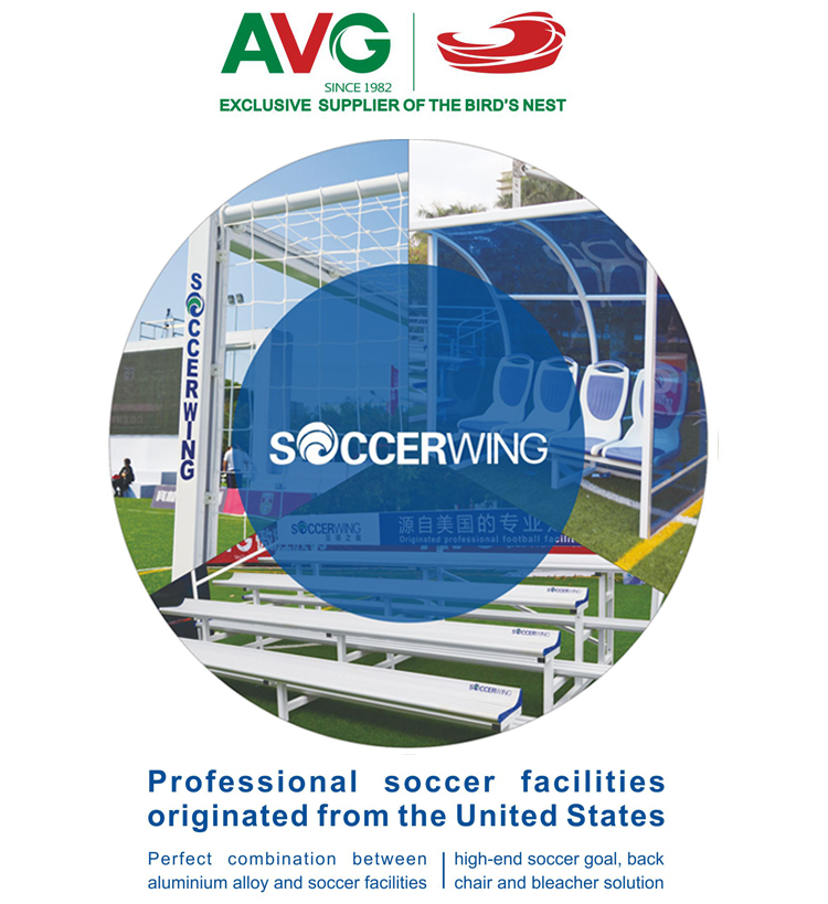Assembly type design is applied in the stand column and patand of soccer goal